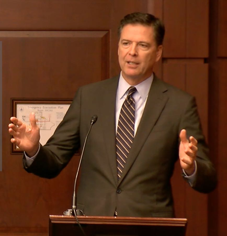 NWC Publishes Former FBI Director Comey's Speech on Whistleblowers